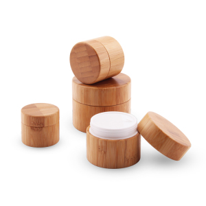 Wholesale bamboo product jar,bamboo container cosmetic packaging