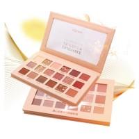 Wholesale 18 color makeup high pigment private label matte glitter eyeshadow palette