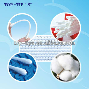 200pcs plastic Cotton Buds/Cotton Tips in Round Can