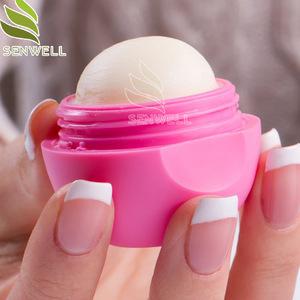 Fashion Moisturizing Mini Muti Nature Furit Flavor Organic Ball Lip Balm