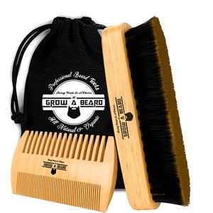 FQ brand wholesale wood hairbrush 100% boar bristle hair beard brush