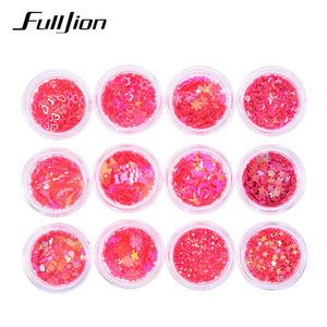 Fulljion Body Glitter Glow Adhesive Face Gems Festival Nail Makeup Glitter Maquiagem