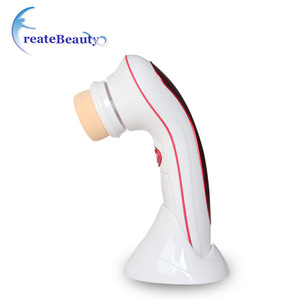 Guangzhou best 4 in 1 deep pores cleansing skin care tools electric face cleaning brush