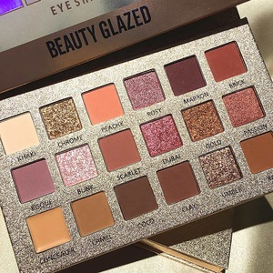 High Quality Beauty Glazed New 18 Colors Eye Shadow Makeup Pressed Glitter Eyeshadow Palette