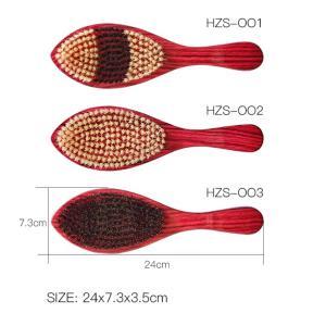 Hot-selling Factory Price Custom logo Wave 360 Beard Brush Wooden Boar Bristle Hair Brush
