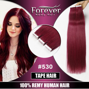 Most Popular Double Drawn Thick Bottom 100 Human Hair tape in hair extensions
