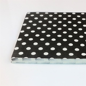 Newest Sale Easy To Carry Black Background Dot Pattern Napkin With Logo