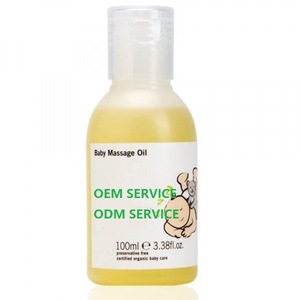 OEM natural flavored baby massage oil
