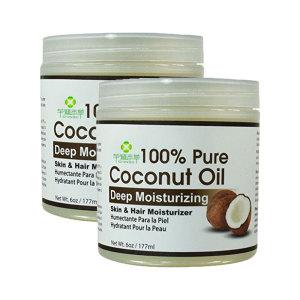 Organic coconut oil hair for deep moisturizing