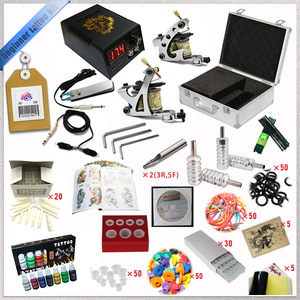 Professional tattoo kit with two tattoo machine