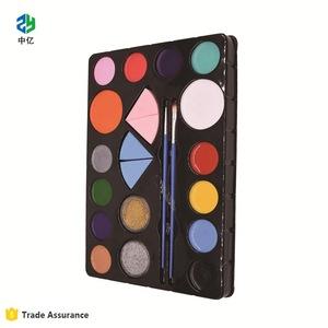 Wholesale Nontoxic face body paint 12 color art make up kit set washable
