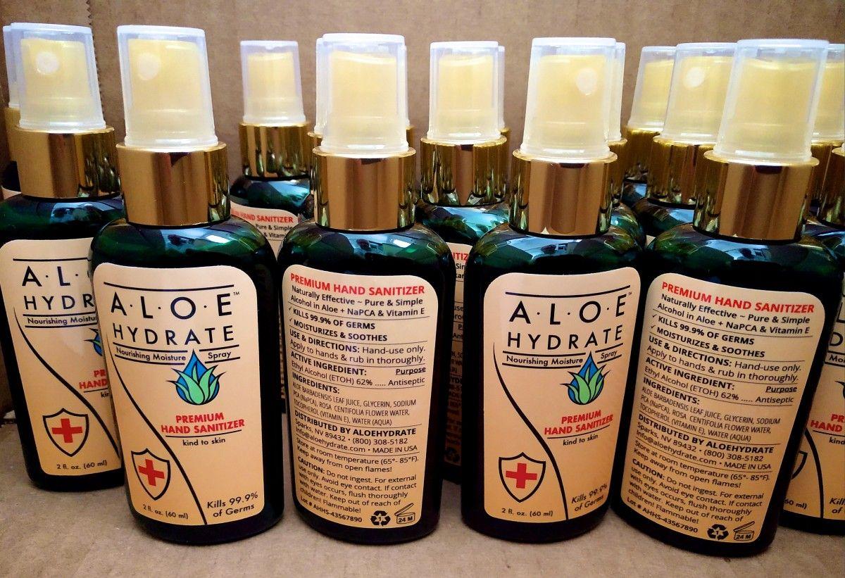 Moisturizing Hand Sanitizer with Aloe vera gel Plus Vitamin E