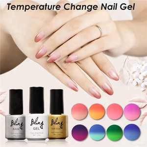 Bling Nails Care Materials Fashion Salon Nail Painting Changing 6ml UV Led Color Changeable Gel