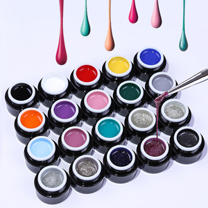 BORN PRETTY 5ml 2 in 1 3D Painting Gel Glitter Micro-carving Soak Off UV Nail Gel Polish One-shot Color Drawing Painting Gel