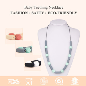 BPA Free Silicone Teething Necklace Silicone Nipple Breast Forms