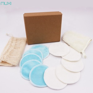 Cotton Makeup Pads Reusable Makeup Remover Cloth 10pcs Plus Remover Glove Set Packed with Kraft Box