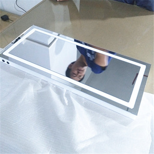 Custom wall-mounted decorative frameless acrylic led makeup mirror