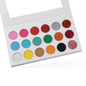 DIY Choose Your Own Color Custom Eyeshadow Palette Low MOQ Cosmetics New Private Label Best Makeup Cardboard Eyeshadow Palette