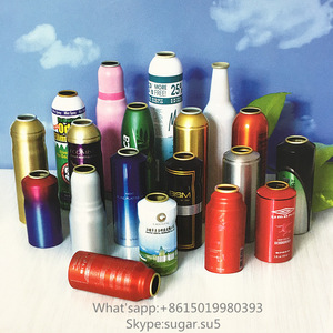 Empty aluminum aerosol cans with custom shade