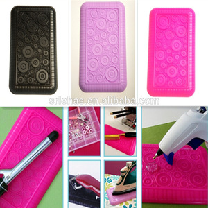 heat resistant silicone pad mat for flat curling iron and hair straightener