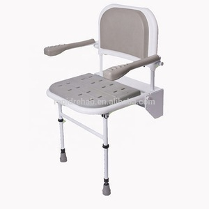 Hot sales Aluminum and stainless steel Wall mounted shower bath seat for old people