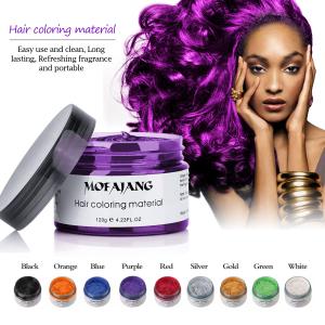 MOFAJANG 120G Hair Styling Pomade Temporary Easy Wash Mud Hair Color Wax