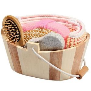 Oval Paper Box Exfoliating Bath Skin Care Set
