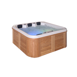 SM193 Top supplies best spa set panel wooden surface hot tub for 4 person