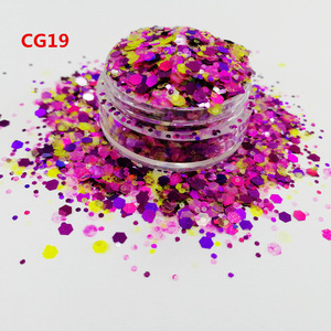 wholesale top polyester bulk holo cosmetic glitter, chunky body glitter