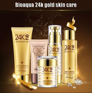 BIOAQUA moisturizing skin care product 24k gold skin care set