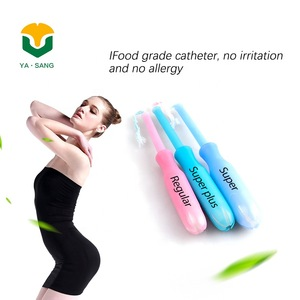 Disposable tampons with plastic applicator Super Natural Cotton Tampons
