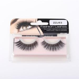 Fashion cheap 3d silk eyelash charming synthetic self-adhestive eyelashes makeup 3d silk pre-glued lashes